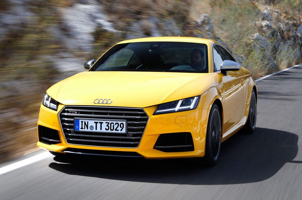 Audi TT Yellow 2014
